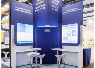 Foto del stand de Datatronics en el Mobile World Congress 2019